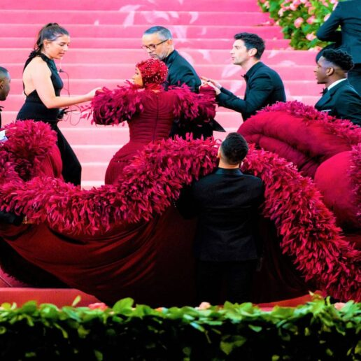 A Frou-Frou Fluff Of Feathers At New York's Met Ball
