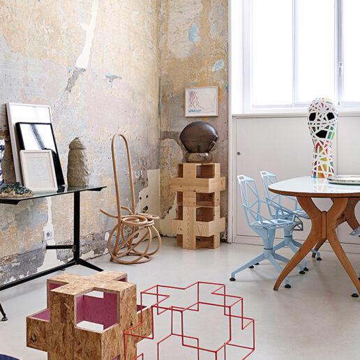 Ο Paolo Gonzato μένει σ' ένα σπίτι που θυμίζει γκαλερί