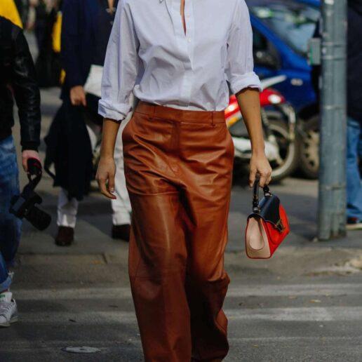 Everyday glam: Το δερμάτινο παντελόνι είναι η πιο κομψή λύση για κάθε μέρα