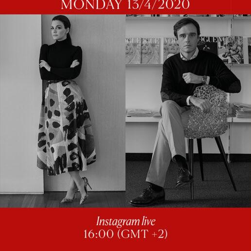 Insta Live: Η Vogue Greece φιλοξενεί τον πρωτοπόρο Emanuele Farneti, διευθυντή της Vogue Italia