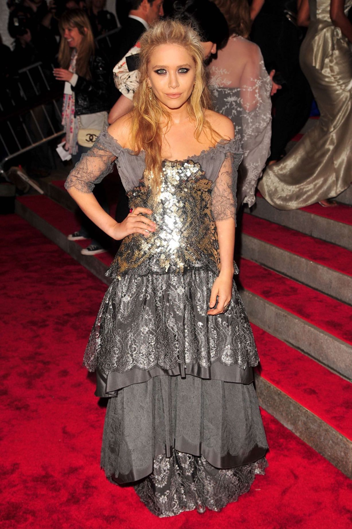 Mary-Kate Olsen, wearing a vintage Lacroix, at the 2009 Met Gala.