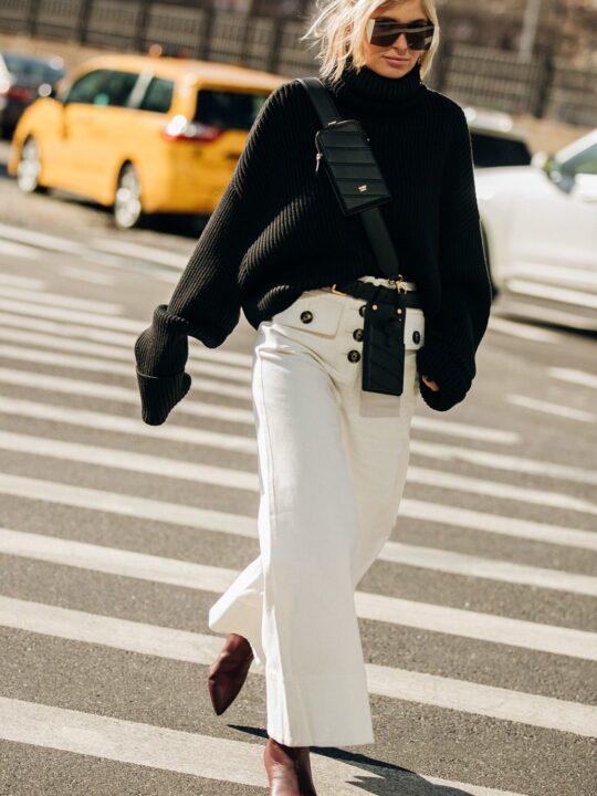 Λευκό παντελόνι τον χειμώνα; Πώς να το φορέσετε σύμφωνα με τη Vogue