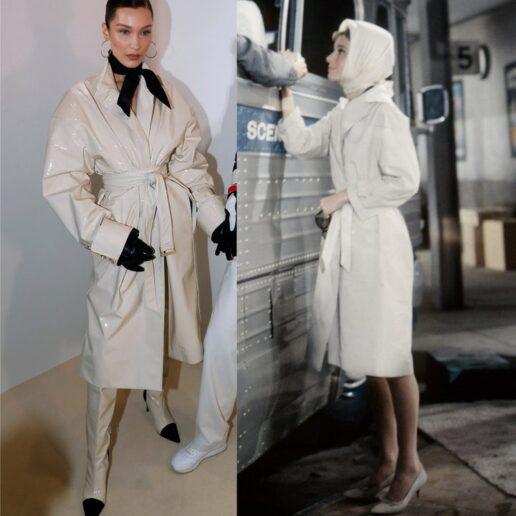 Icons: Όλες οι φορές που το στιλ της Audrey Hepburn ενέπνευσε τη Bella Hadid