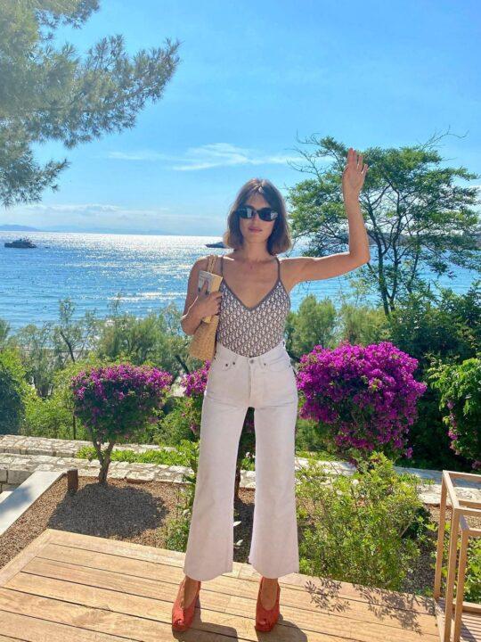 H Jeanne Damas στην Αθήνα για το Dior Cruise 2022 show