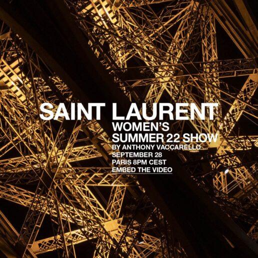 Δείτε live το show του οίκου Saint Laurent από την Paris Fashion Week