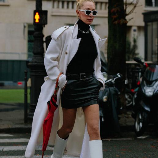 Λευκά παλτό, sheepskin τζάκετ και όλα τα fall πανωφόρια από το street style Παρισιού