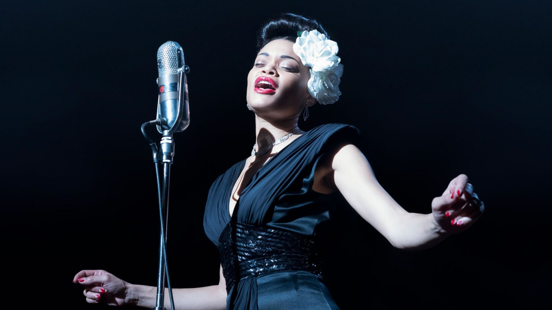 Andra Day as Billie Holiday in The United States vs. Billie Holiday | Photo: Courtesy of Hulu