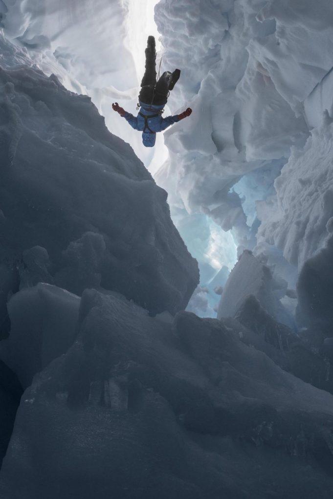 Lucas Foglia courtesy of the artist | Kenzie inside a Melting Glacier, Juneau Icefield Research Program, Alaska, 2016