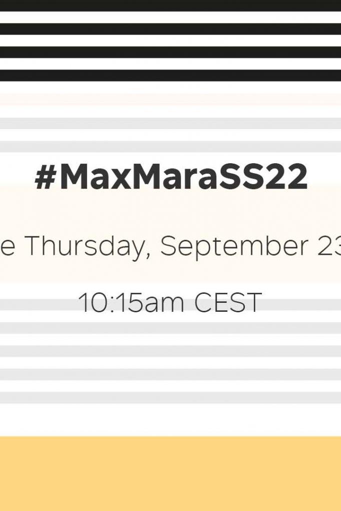 MAX MARA SS 2022 - HORIZONTAL