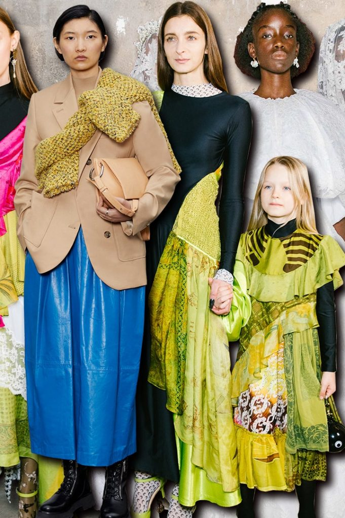 Looks from Marine Serre, 3.1 Phillip Lim, and Simone Rocha's fall 2020 collections | Courtesy of 3.1 Phillip Lim
