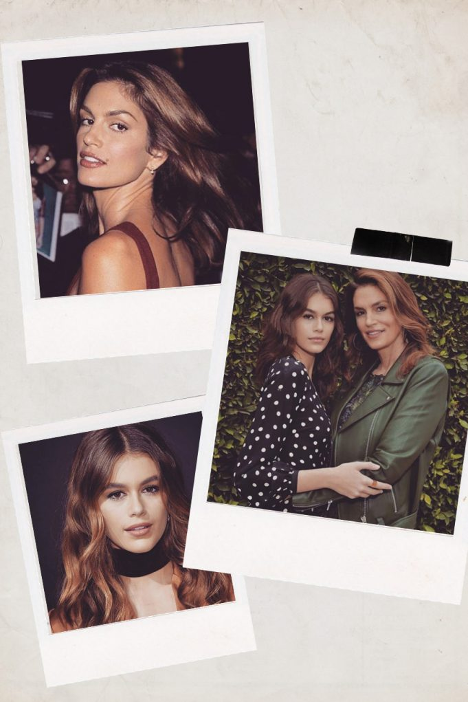 Cindy Crawford and Kaia Gerber on Instagram @luxykaiacindy