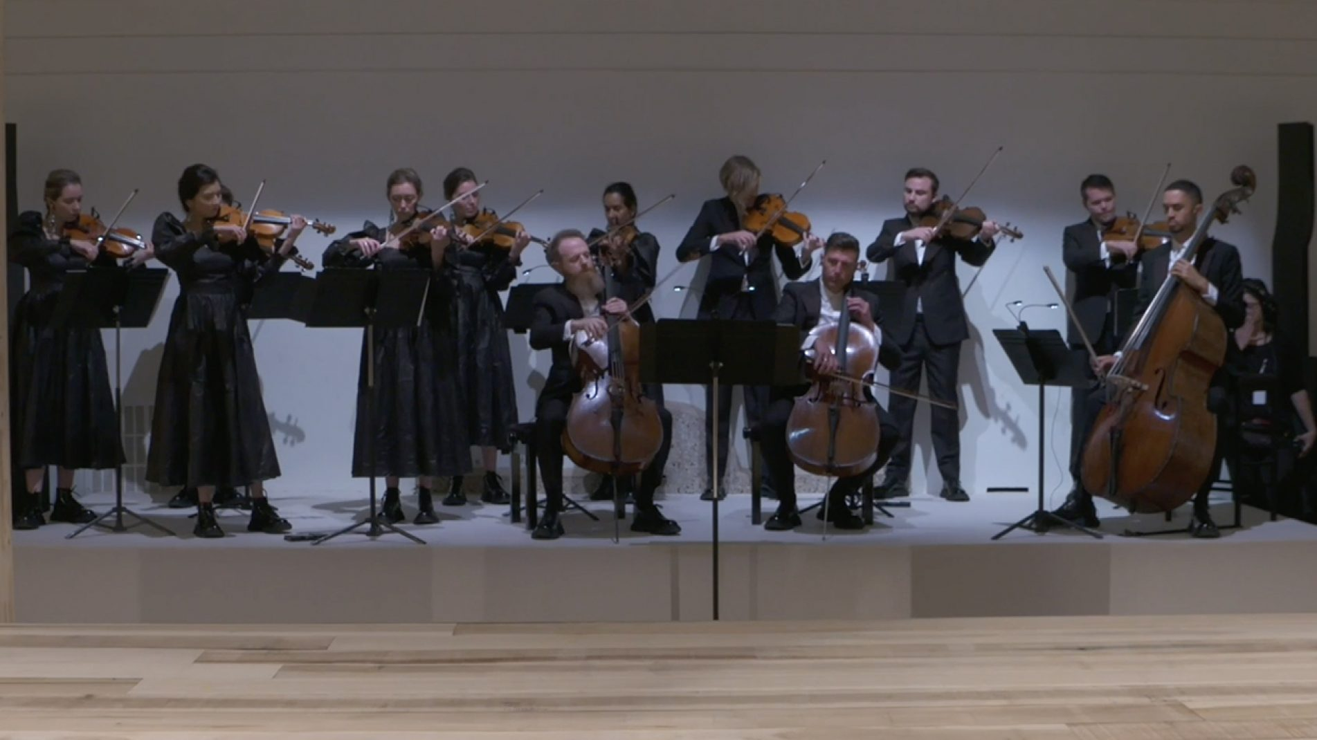 The London Contemporary Orchestra performing Isobel Waller-Bridge's Arise at the Alexander McQueen Spring/Summer 2020 show